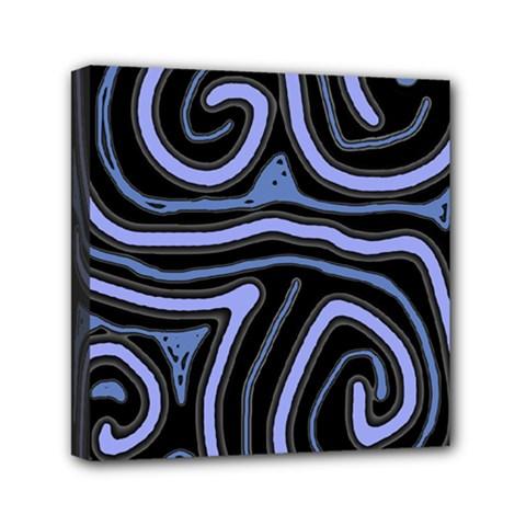 Blue abstract design Mini Canvas 6  x 6