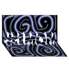 Blue abstract design #1 MOM 3D Greeting Cards (8x4)
