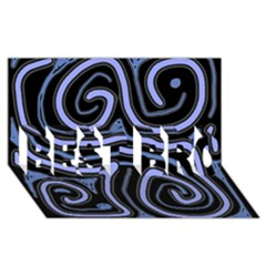 Blue abstract design BEST BRO 3D Greeting Card (8x4)