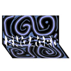 Blue Abstract Design Engaged 3d Greeting Card (8x4)