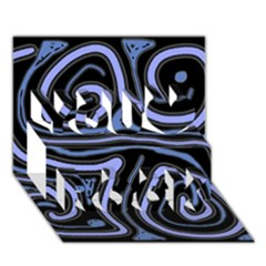 Blue abstract design You Rock 3D Greeting Card (7x5)