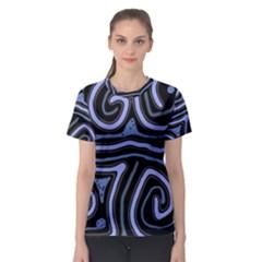 Blue abstract design Women s Sport Mesh Tee