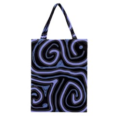 Blue abstract design Classic Tote Bag