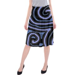 Blue Abstract Design Midi Beach Skirt