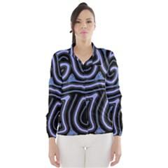 Blue abstract design Wind Breaker (Women)