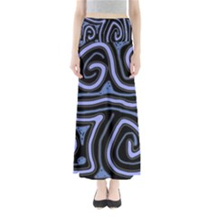 Blue Abstract Design Maxi Skirts