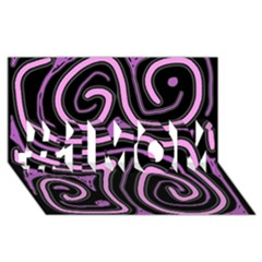 Purple neon lines #1 MOM 3D Greeting Cards (8x4)