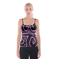 Purple neon lines Spaghetti Strap Top