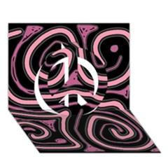 Decorative lines Peace Sign 3D Greeting Card (7x5)
