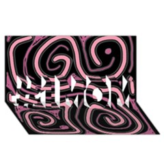 Decorative lines #1 MOM 3D Greeting Cards (8x4)