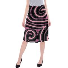 Decorative lines Midi Beach Skirt