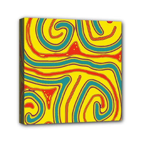 Colorful decorative lines Mini Canvas 6  x 6