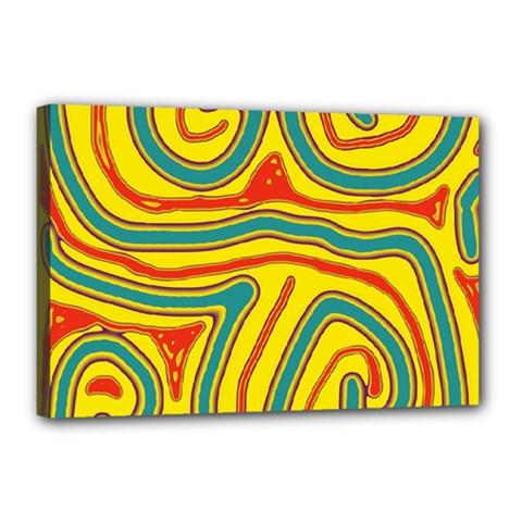Colorful Decorative Lines Canvas 18  X 12