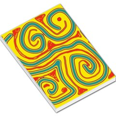 Colorful decorative lines Large Memo Pads