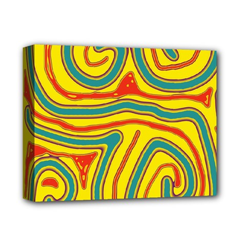 Colorful decorative lines Deluxe Canvas 14  x 11