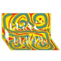 Colorful decorative lines Best Friends 3D Greeting Card (8x4)
