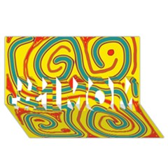 Colorful decorative lines #1 MOM 3D Greeting Cards (8x4)