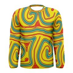 Colorful decorative lines Men s Long Sleeve Tee