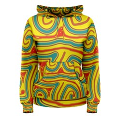 Colorful decorative lines Women s Pullover Hoodie
