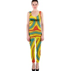 Colorful decorative lines OnePiece Catsuit