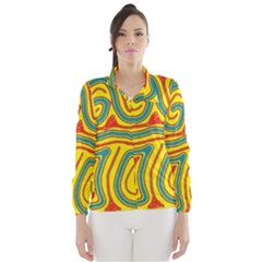 Colorful decorative lines Wind Breaker (Women)