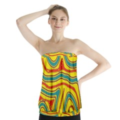 Colorful decorative lines Strapless Top