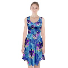 Purple Flowers Racerback Midi Dress