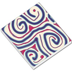 Blue and red lines Small Memo Pads