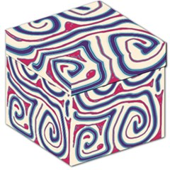 Blue and red lines Storage Stool 12