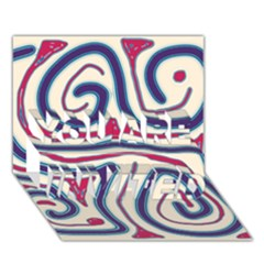 Blue and red lines YOU ARE INVITED 3D Greeting Card (7x5)