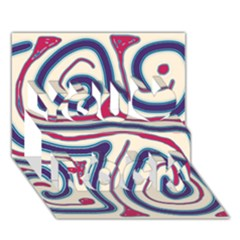 Blue and red lines You Rock 3D Greeting Card (7x5)