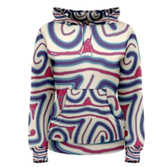 Blue and red lines Women s Pullover Hoodie
