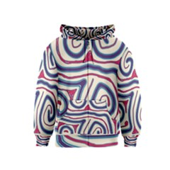Blue and red lines Kids  Zipper Hoodie