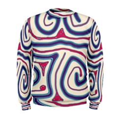 Blue and red lines Men s Sweatshirt