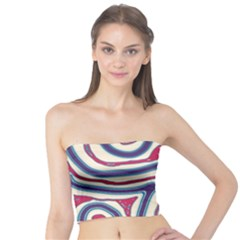 Blue and red lines Tube Top