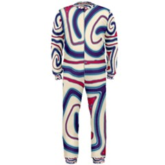 Blue and red lines OnePiece Jumpsuit (Men)