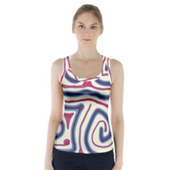 Blue and red lines Racer Back Sports Top