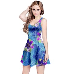 Purple Flowers Reversible Sleeveless Dress