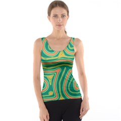 Green and orange lines Tank Top