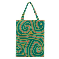 Green and orange lines Classic Tote Bag