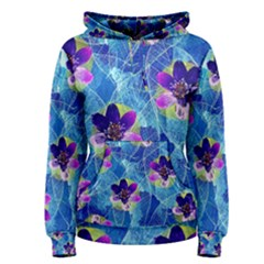 Purple Flowers Women s Pullover Hoodie