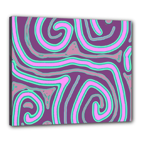 Purple lines Canvas 24  x 20
