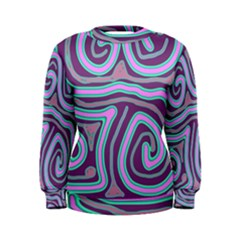 Purple lines Women s Sweatshirt