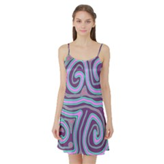 Purple lines Satin Night Slip