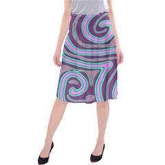 Purple lines Midi Beach Skirt