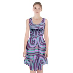 Purple lines Racerback Midi Dress