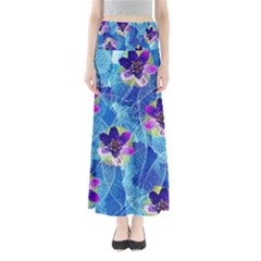 Purple Flowers Women s Maxi Skirt
