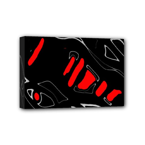 Black and red artistic abstraction Mini Canvas 6  x 4