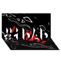 Black and red artistic abstraction #1 DAD 3D Greeting Card (8x4)