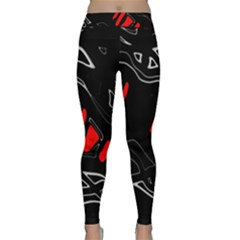 Black and red artistic abstraction Yoga Leggings